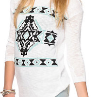 Trillium Tribal Crew Neck Sweater