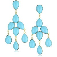 Yochi Turquoise Chandelier Earrings 