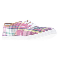 Plaid Faux Leather Trim Sneakers | Wet Seal