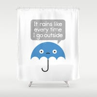 Umbrellativity Shower Curtain by David Olenick
