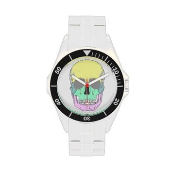 SKULL POP ART STYLE Classic Stainless Steel Watch