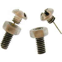 Phillips' Head Bolt Earrings With Nut, Ours Alone, Quality Made in USA!