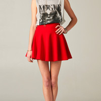 RED FLARED PARTY SKIRT | PUBLIK | Women's Clothing & Accessories
