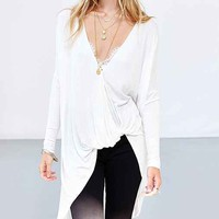 Silence + Noise Amber Asymmetrical Top-