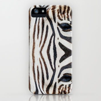 EYE OF THE ZEBRA iPhone & iPod Case by Catspaws | Society6