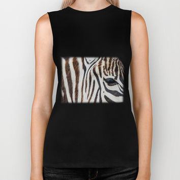 EYE OF THE ZEBRA Biker Tank by Catspaws | Society6