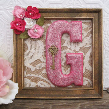 Letter G Nursery Wall Decor Baby Girl Nursery Art