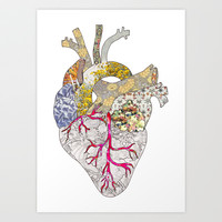my heart is real Art Print by Bianca Green