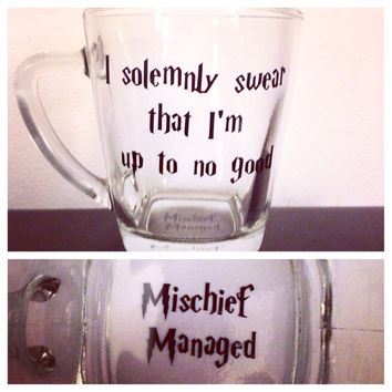 I solemnly swear that I'm up to no good coffee mug