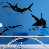 Shark Dive Vinyl Wall Art FREE Shipping Fun Shark by showcase66