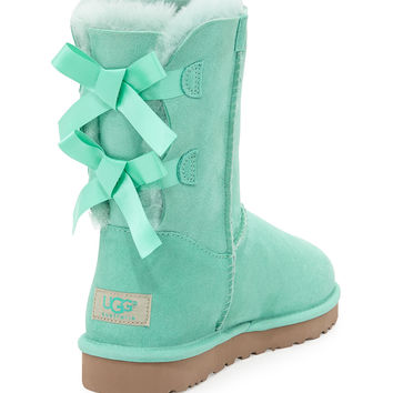 UGG Australia Bailey Bow-Back Short Boot, Aqua