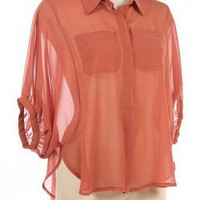 DOORMAN SLEEVES CHIC CHIFFON SHIRT-Casual Tops