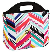 Gear-Up Diagonal Stripe Tote Lunch