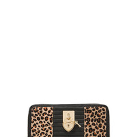 Continental Zip Wallet in Natural Leopard