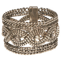 Chain & Rhinestone Glam Bracelet | Wet Seal