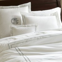 PEARL EMBROIDERED 280-THREAD-COUNT DUVET COVER & SHAMS