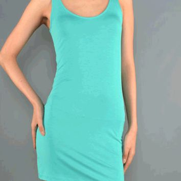 Featuring a round neckline, form fitting tank tunic, sleeveless, and super soft knit fabric.