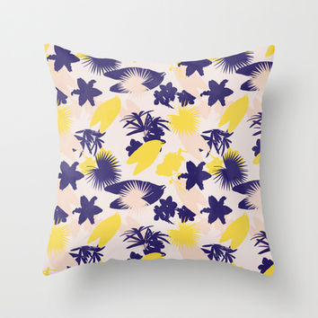 tropical love Throw Pillow by Grace