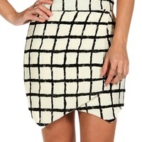 Square Printed Envelope Skirt