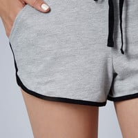 Contrast Sport Seamed Runner Shorts