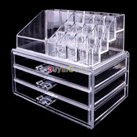 Drawer Box Storage Cabinet #05 Crystal Organizer Woman Man Makeup Case DB