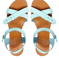 ASOS FOOLS RUSH IN Leather Flat Sandals