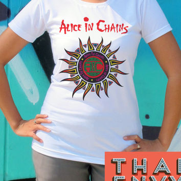 Alice in Chains Womens T Shirt - Rock Grunge Alternative Music TShirts