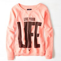 AEO Women's Real Soft Signature Graphic Sweatshirt