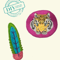 Tiger & Feather Patch Set - Indego Africa