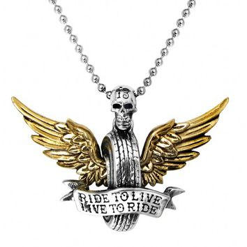 """Live To Ride"" Necklace by Alchemy of England"