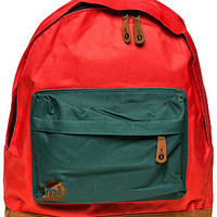 The Two Tone Backpack in Bright Red & Green