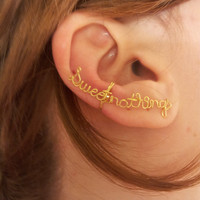 Sweet nothings Wire ear cuff by Karmadia on Etsy