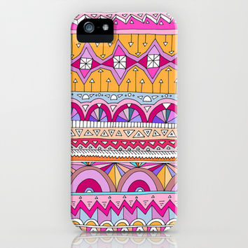 Tribal Lines #2 iPhone & iPod Case by Ornaart