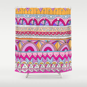 Tribal Lines #2 Shower Curtain by Ornaart