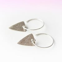 Boe Womens Triangle Plate Hoop -