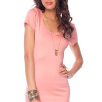 Go Back Across Dress in Baby Pink :: tobi