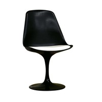 Baxton Studio Tulip Plastic Accent Chair with Cushion