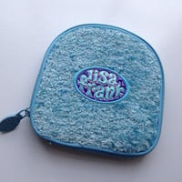 Vintage blue fuzzy LISA FRANK cd electronic case so kawaii harajuku