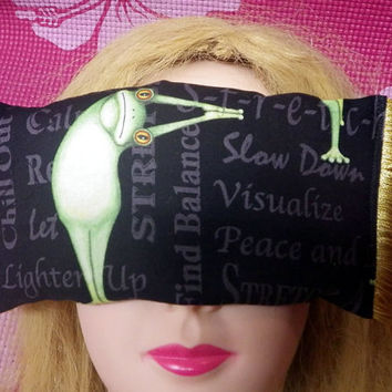 Yoga Eye Pillow, Eye Mask, Yoga Meditation Pillow, Eye Massage Pillow with Yellow Tassels