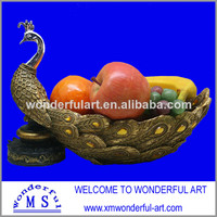 Hot Sale Beautiful Polyresin Peacock Fruit Dish - Buy Fruit Dish,Peacock Decoration,Polyresin Peacock Product on Alibaba.com