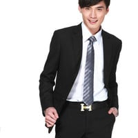 Photo Zoom Slim Polyester Single Breasted Pockets Long Sleeve Menâ??s Suits