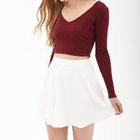 Textured Dot Skater Skirt