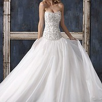 Buy discount Elegant Exquisite Charm Strapless Ball Skirt Wedding Dress at dressilyme.com