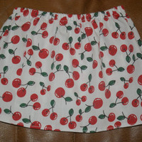 Cherry Print Skirt Custom Size by bamboogees on Etsy