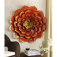 Kirkland's: Spicy Red Flower Plaque