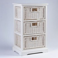 Kirkland's: White 3-Drawer Storage Unit