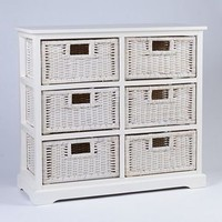 Kirkland's: White 6-Drawer Storage Chest