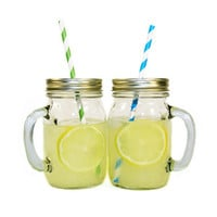 6 Pc. Lemonade Mugs Set