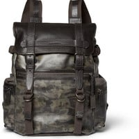 Dolce & Gabbana - Leather and Canvas Backpack | MR PORTER