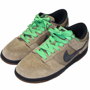 2007 Nike Dunk Low CL Tan/Green Mens Size 11